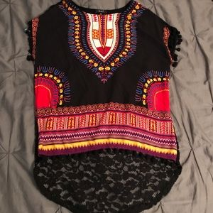 Tops - Tribal Lace Tee
